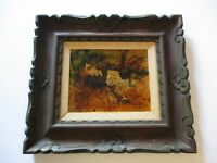 MYSTERY  PAINTING  DECOUPAGE ABSTRACT METTALIC TONES MODERNISAM EXPRESSIONISM