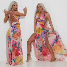 By Alina Mexton Damenkleid Maxikleid Langes Kleid Sommerkleid Strandkleid Floral