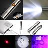 3 in 1 USB Rechargeable LED Laser UV Flashlight Cigarette Lighter Lamp Torch