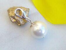 Charms Anhänger MUSCHELKERNPERLE Charm Muschel Perle Armband Kette Weiß 8 -16mm