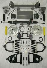 """1953-56 Ford F100 Mustang II Power Front End Suspension Kit IFS 2"""" Drop Slotted"""