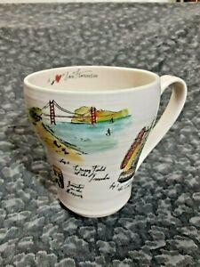 Anthropologie Linea Carta I Love San Francisco City Coffee Tea Cup Mug 16 Oz