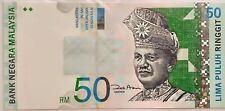 Malaysia 11th Series RM50 Low Serial Number (2 Digit Number) UNC Paper Banknote
