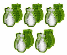 Large 3D Grenade Shape Ice Cube Mold Maker Silicone Party Bar Military Gift 5PK