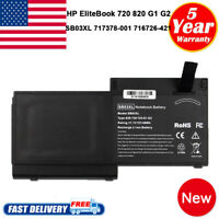 Battery for HP Elitebook 720 725 820 G1 717378-001 716726-421 HSTNN-LB4T SB03 PC