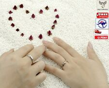 Angel Wings Shaped Cubic Zircon Adjustable Silver Plated Couple Rings [A2I~B31]
