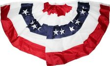 New listing Stars & Stripes Bunting 3x6 ft Embroidered Pleated Us Usa Flag Banner