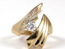Right Hand Ring .43ct 6g 14k Yellow Gold Round Diamond