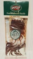Metz #1 Fly Tying Feathers Saddle Ginger Premium Fishing Hackle Brown