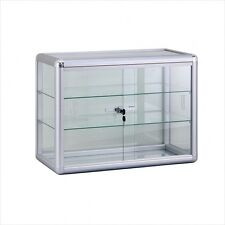 Mini Glass Countertop Showcase with front lock
