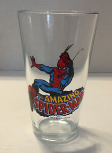 Marvel Comics The Amazing Spiderman Glass Cup Spider-Man