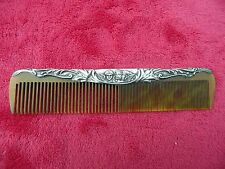 BEAUTIFUL ANTIQUE EDWARDIAN 1903 STER. SILVER MOUNTED CHERUB DRESSING TABLE COMB