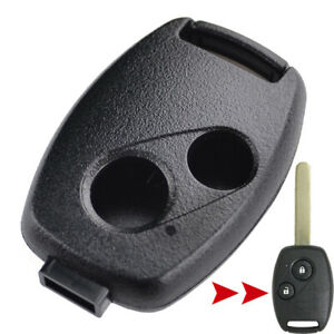 2 Button  Key Shell Replacement For Honda Civic Accord Jazz Odyssey Remote Case
