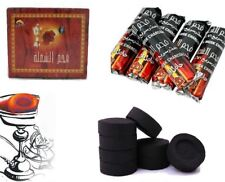 SHINE 100 CHARCOAL Coal Discs for SHISHA hookah SMOKING PIPE Flame Light UK