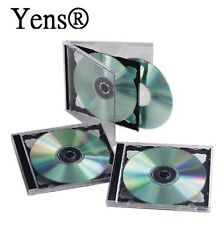 Yens® 50 pcs New Black Double Standard CD DVD Jewel Case 10.2mm  50#10BCD2
