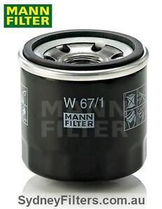 MANN OIL FILTER W67/1 (Z436, Z445) to suit NISSAN NAVARA NP300 PETROL 2.5L QR2