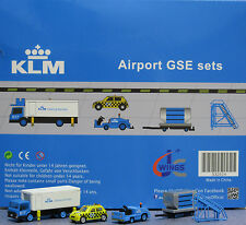 JC Wings 1/200 KLM Airport GSE Set 4 XX2024 miniature vehicles