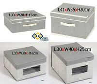 Fabric Storage Cube Drawer With Lid Box Folding Ottoman Books Clothes Organiser