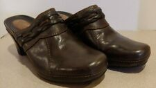 Clarks Artisan Collection Brown Leather Mule Slip-on Heel Shoe Women Size  7 M