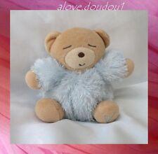 Doudou Kaloo Mini Ours Dormeur Boule Bleu Fourrure 12 cm