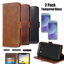For Samsung GALAXY J7 Phone Card Wallet Flip Leather Case Protective Cover Stand
