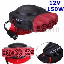 12V 150W 2 EN 1 Ventilateur Chauffage Ceramique Fiche Allume-Cigare Ajustable