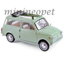 NOREV 187723 1962 FIAT 500 GIARDINIERA 1/18 DIECAST MODEL CAR GREEN