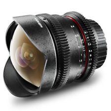 Walimex pro 8mm f/3, 8 fish-Eye vídeo DSLR lente para four thirds, negro