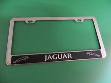 "(1pc)"" JAGUAR HALO "" Stainless Steel license plate frame"