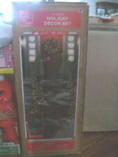 Holiday Decor 12 piece Pre Lite Trees