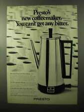 1970 Presto Coffee Maker Ad - Can't Get Any Bitter
