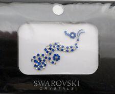 Bindi bijoux piel boda frente strass cristal de Swarovski azul INHC 3613