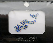 Bindi bijoux de peau mariage front strass cristal Swarovski bleu INHC  3613