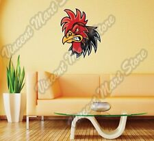"Rooster Cock Chick Chicken Cartoon Wall Sticker Room Interior Decor 20""X25"""