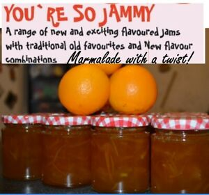 YOU`RE SO JAMMY HOMEMADE MARMALADE  UNIQUE QUIRKY  FLAVOURS  200G JAR  FAB