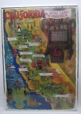 Vintage CALIFORNIA - WINE LAND OF AMERICA Poster by: A. Gonzalez '65s Excellent