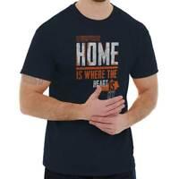 Home Is Where The Heart Is Kentucky Souvenir Short Sleeve T-Shirt Tees Tshirts