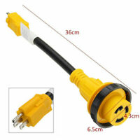 Marine 30 amp female to 15 amp male 125v Shore Power Pigtail Boat Adapter ##**