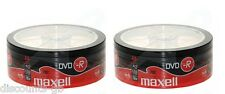 50 Maxell DVD-R Recordable Blank Discs BULK SHRINK WRAPPED Spindle 2x 25 Packs