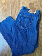 Mens LEVIS 501 button fly denim jeans sz 38 x 30