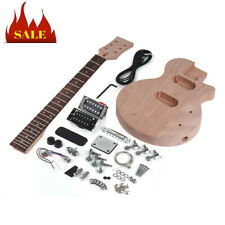 Muslady LP Unfinished DIY Electric Guitar Kit Mahogany Body & Neck Children H3W7