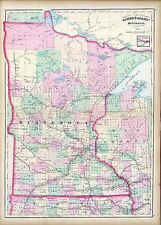 181 maps Minnesota state Panoramic genealogy old lots History teaching atlas Dvd