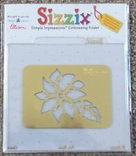 Sizzix SIMPLE IMPRESSIONS Embossing Folder CHRISTMAS POINSETTIA  Stencil 38-9536