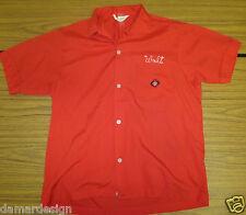 """NAT NAST Creation 1950's Medium BOWLING Rockabilly Shirt """"WALT"""" Excellent"""