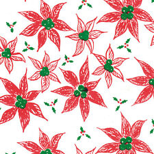 Printed Tissue Paper - Poinsettia Pattern - 240 Sheets