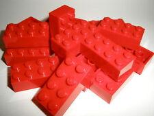 ++  LEGO   15  rote  Bausteine  2x4  Noppen    NEU  ++
