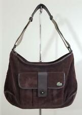 LACOSTE BROWN CORDUROY HOBO SHOULDER BAG FASHION