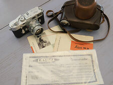 Beautiful Leica M3 DS camera with Summicron 50mm f2 DR, Leica case, insts (1956)