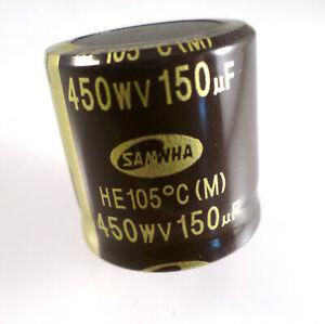Samwha HE Electrolytic Capacitor 450V 150uf 105'C HE2W157M30030HA100 OL0253