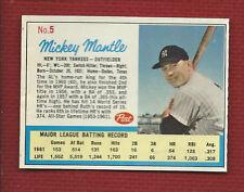 MICKEY MANTLE 1962 Post Life Magazine #5 HOF New York Yankees 4 Sharp Corners